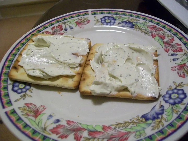 Snacks saludables con queso cottage