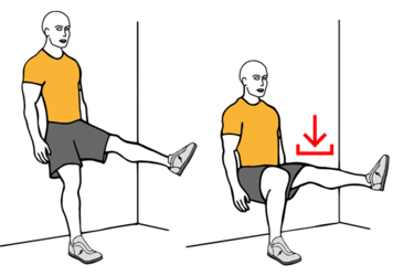 Image result for isometric single-leg wall lean