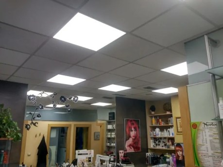 Iluminación LED peluquería