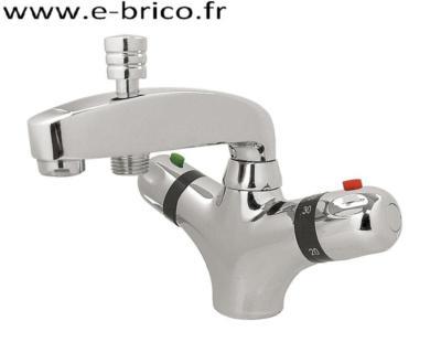 robinet thermostatique monotrou bain et douche chrome volga 2
