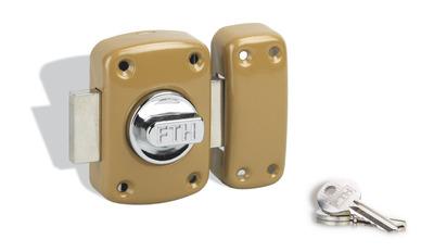 verrou de porte mirage bouton et cylindre 60 mm thirard