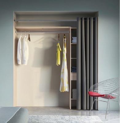placard clea avec rideau hauteur 205 x