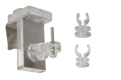 supports a clipser clipvit 3en1 pour tringle de vitrage chromes translucides lot de 2