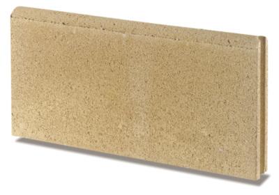 bordure de jardin droite beton paille 50x19x5cm fabemi