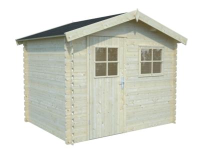 abri de jardin en bois katia1 4 30 m ep 19 mm white wood