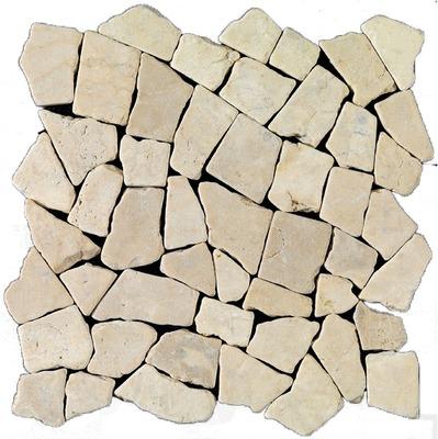 plaque de galet palladiana blanc 30 x 30 cm
