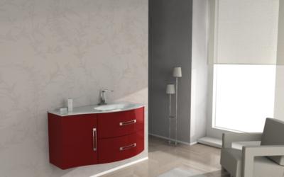 Meuble De Salle De Bain Avec Vasque Best Rouge L 1030 Mm Baden Haus 962036 Salle De Bains L Entrepot Du Bricolage
