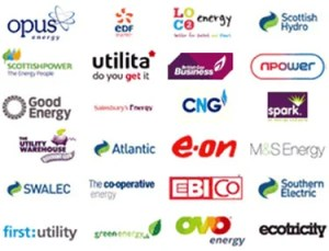 Lists of energy suppliers in UK