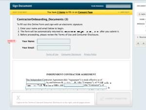 Signing documents on getleverage platform