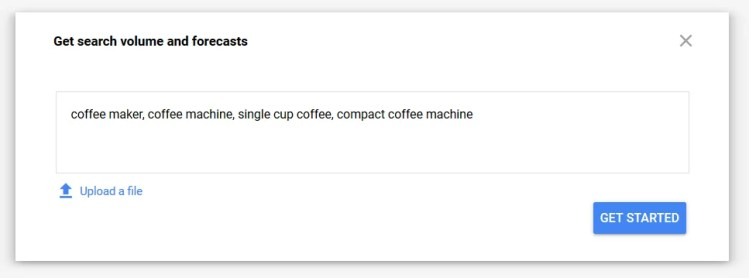 How to test new ecommerce product ideas using Google Keyword Planner