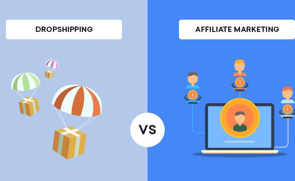 Dropshipping and affiliate marketing: differences and similarities