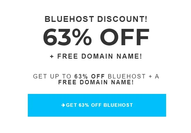 Bluehost discount offered by the best US-based web hosting provider