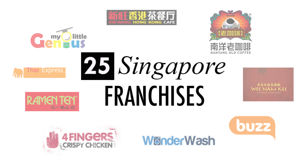 25 Popular Singaporean Franchises and How Much They Cost