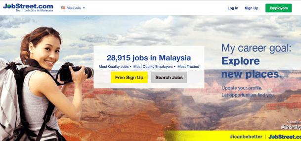 Jobstreet main page