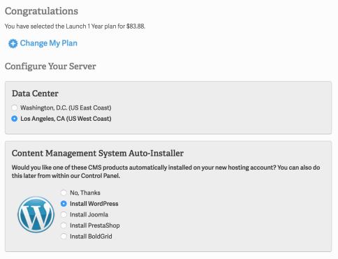 Data Center and WordPress Installation