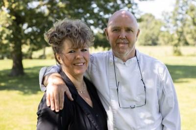 Chef-kok Jan Gaastra en zijn vrouw Corry