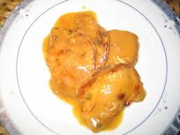 Lomo con crema de naranja