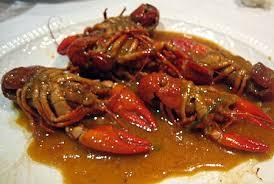 Cangrejos de rio picantes