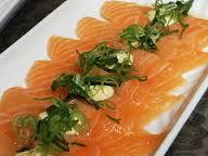 Carpaccio de salmón y merluza