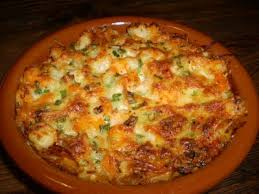 Cazuela de queso y mariscos