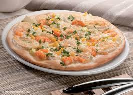 Pizza de gambas y queso