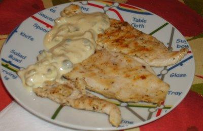 Pechuga de pollo con salsa de mostaza y limón