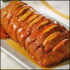 lomo de cerdo con manzana