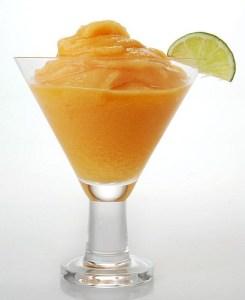sorbete de naranja al cava