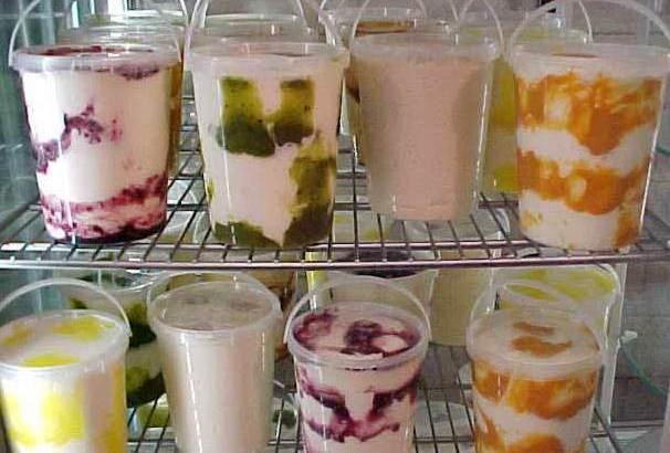 La heladera y bowls para preparar helados (II)