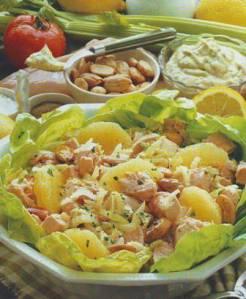 Ensalada de pollo con pomelo