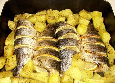 Lubina con patatas