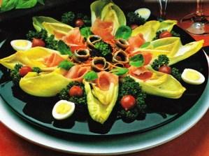 Ensalada de ahumados y hortalizas