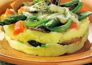 Pastelitos de puré y verduras