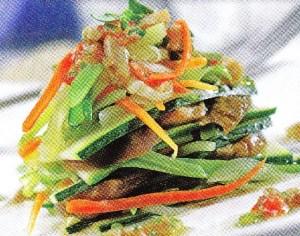 Falsa lasaña de verduras con boletus