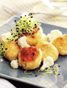 Albóndigas de pollo y coliflor