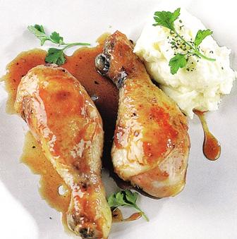 Muslos de pollo al horno con vinagre balsámico