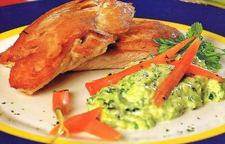 Pechuga de pollo con repollo