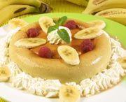 Flan de plátano familiar