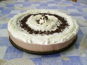Torta de queso y chocolate