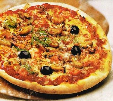 Pizza de frutos del mar