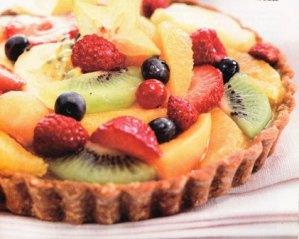 tarta frutal de yogur