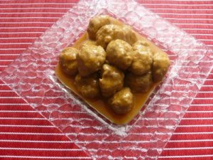 Albóndigas con salsa agridulce