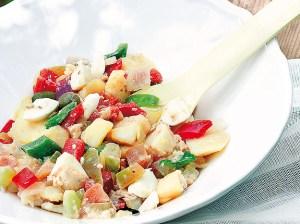 ensalada casera con verduras
