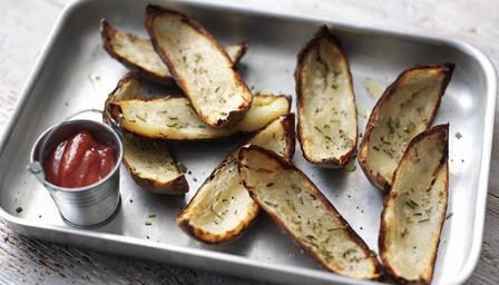 Patatas con la piel crujiente