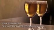 La cerveza siempre en copa de cristal