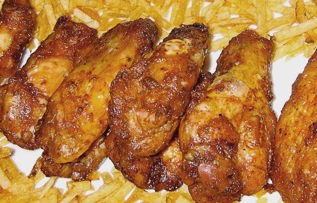 Alitas asadas de pollo a la miel