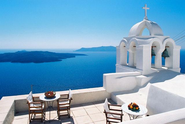 Vistas al mar Egeo, foto de autor desconocido