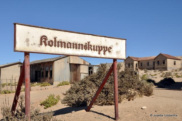 Cartel de entrada a Kolmannskuppe