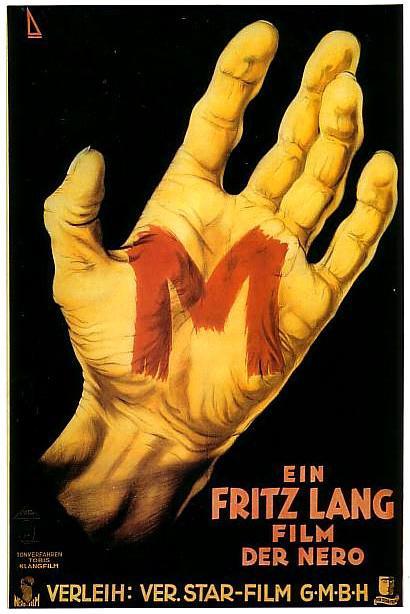 Cartel original de la película M (Fritz Lang, 1931)