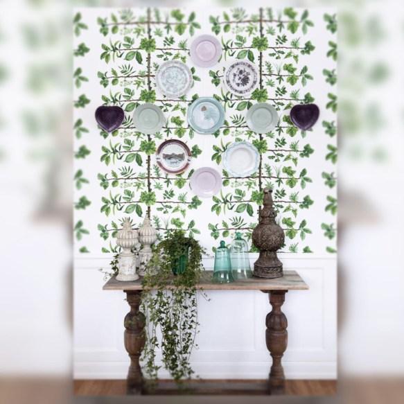 Comedor en tonos verdes- Decoracion de pared- Wall decoration by La Musa Decoracion